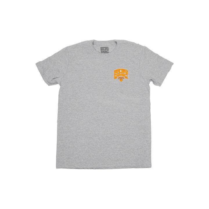 Grey Tee - Run-DMC x NY Knicks merch