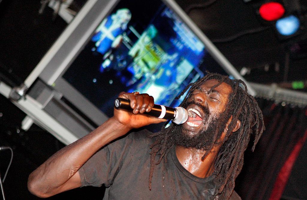 Controversial reggae dancehall star Buju Banton at the Century Club in Century City.
