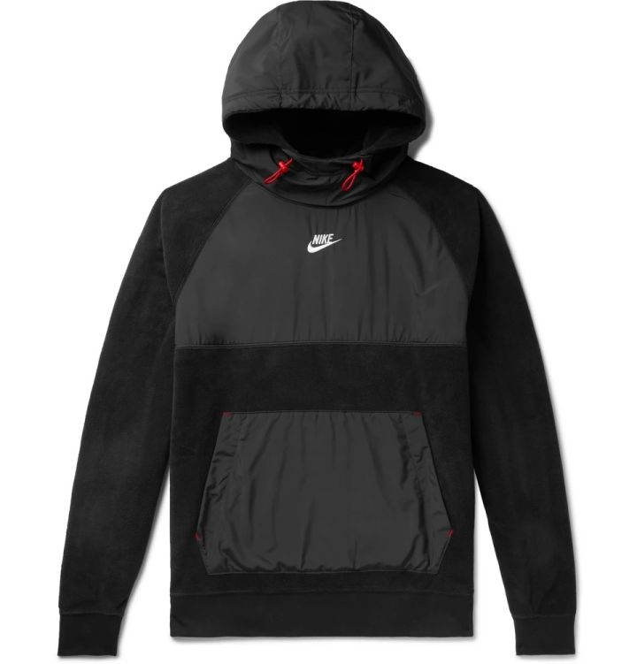 Nike Shell-Panelled Fleece Hoodie