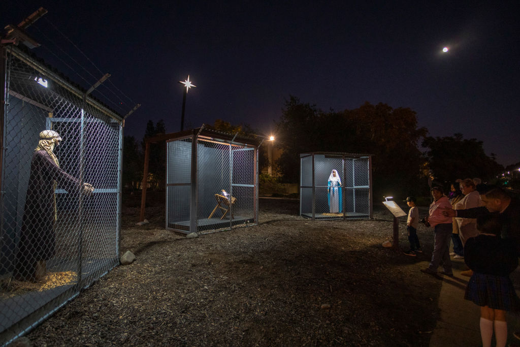 Claremont United Methodist Church Displays Nativity Scene Depicting Jesus, Mary, And Joseph As Detained Immigrants