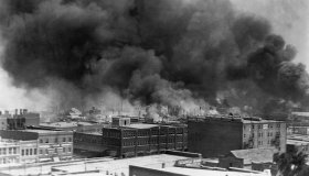 Burning Buildings During Race Riot of 1921