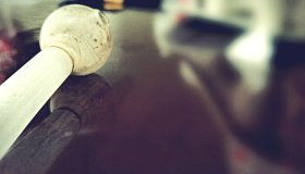 Close-Up Of Methamphetamine Pipe On Table