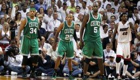Boston Celtics Vs. Miami Heat At American Airlines Arena