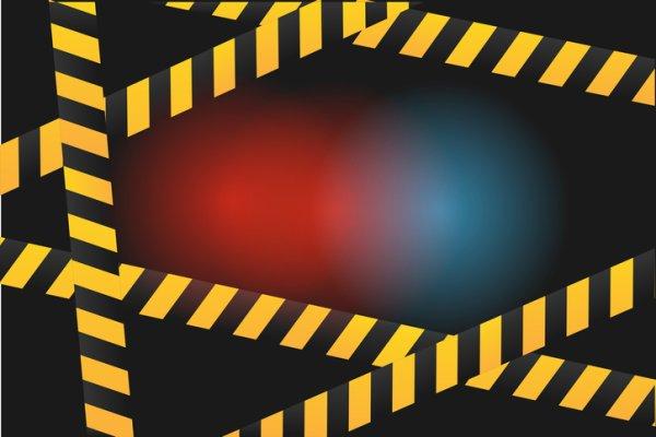 Yellow warning tape!