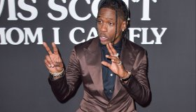 Rapper Travis Scott arrives at the Los Angeles Premiere Of Netflix's 'Travis Scott: Look Mom I Can Fly' held at Barker Hangar on August 27, 2019 in Santa Monica, Los Angeles, California, United States.