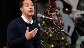 Presidential Candidate Julian Castro speaks in Pasadena, US