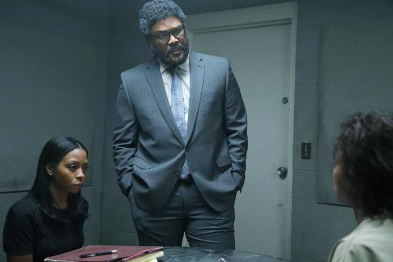 Tyler Perry's 'A Fall From Grace' key art and stills