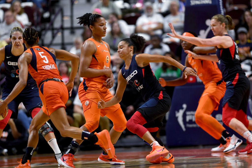 WNBA championship series between the Washington Mystics and the Connecticut Sun