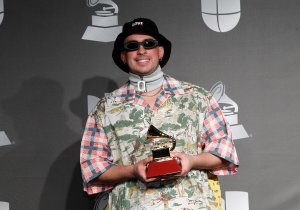 Bad Bunny in the press room for 20th Ann...