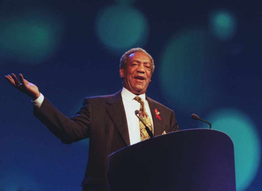 Bill Cosby uses humor to drive home his points about the effect of television of children and to point out to people that they have some control over what television airs.