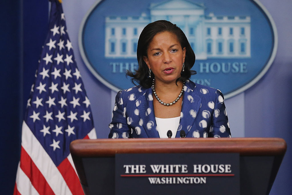 White House National Security Advisor Susan Rice Briefs The Media On Obama's Trip To Africa
