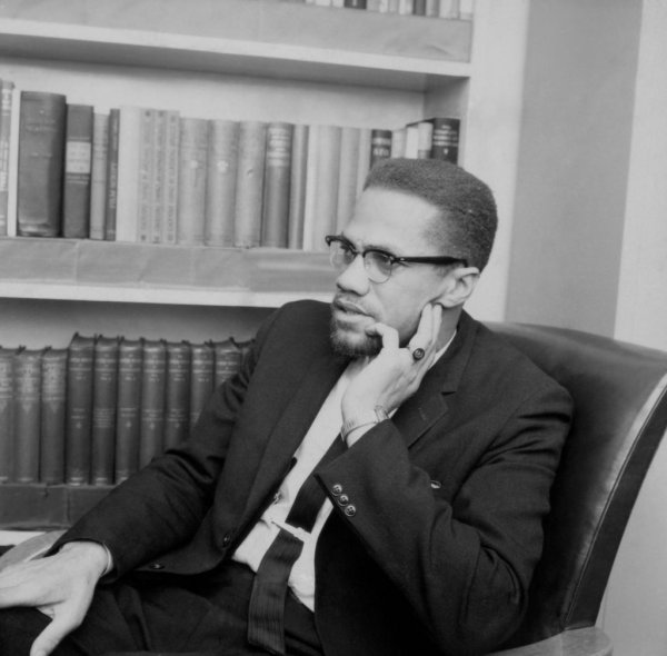 "Politics - Malcolm X - BBC TV - ""The Negro in America"" - London - 1964"