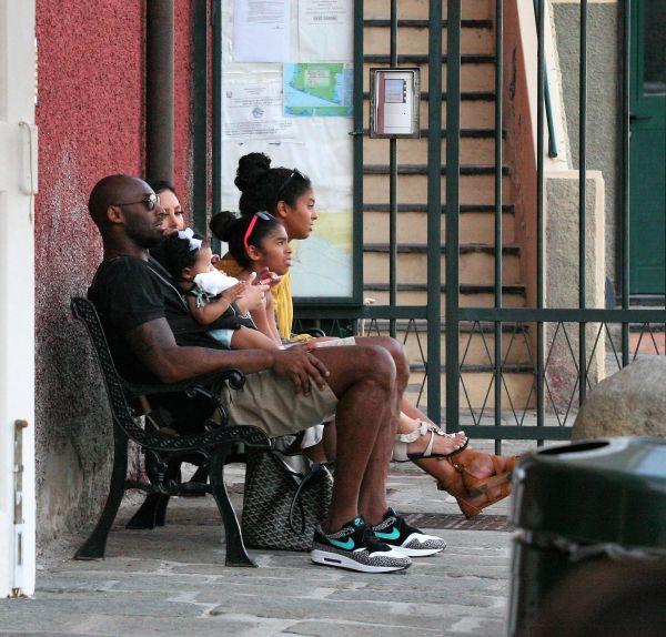 Kobe Bryant holidaying in Portofino