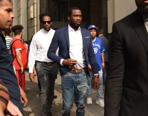 Meek Mill Leaves Court in Philly