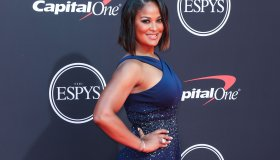 American professional boxer Laila Ali arrives at the 2019 ESPY Awards held at Microsoft Theater L.A. Live on July 10, 2019 in Los Angeles, California, United States. (Photo by Xavier Collin/Image Press Agency)