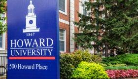 Washington DC, Howard University campus sign