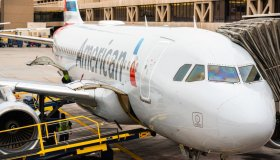 American Airlines Airbus A319-100 aircraft seen at Phoenix...