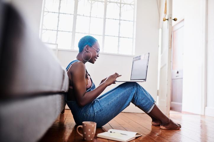 Enjoying her flexible schedule as a freelancer