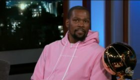 Kevin Durant during an appearance on ABC's Jimmy Kimmel Live!'
