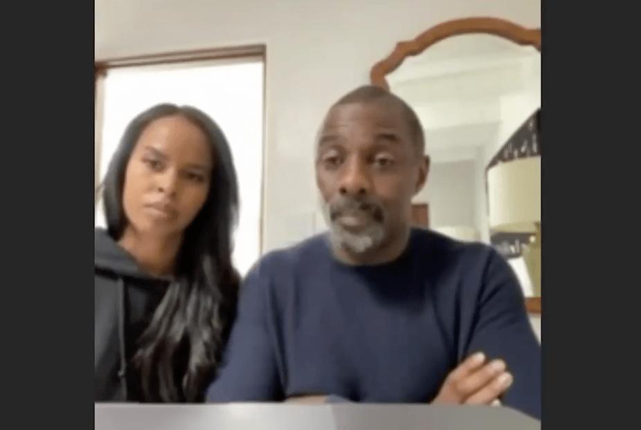 Idris Elba & Sabrina Dhowre
