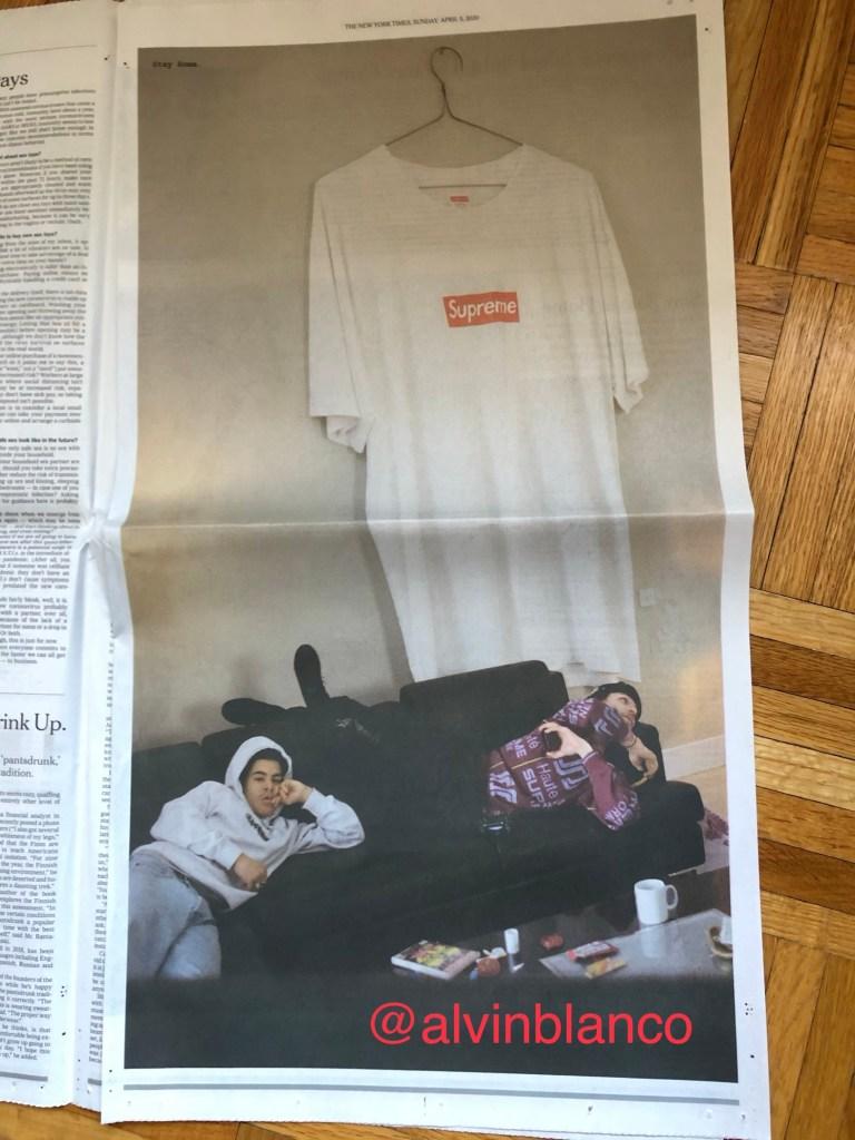 Supreme New York Times ad