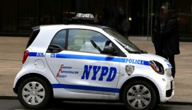 Editorial - Close-up of a Citywide Traffic Task Force Police car