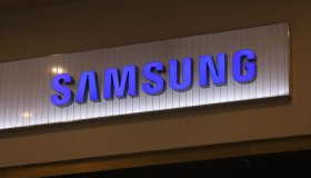 Logo of Samsung is seen at Galeria Shopping and...