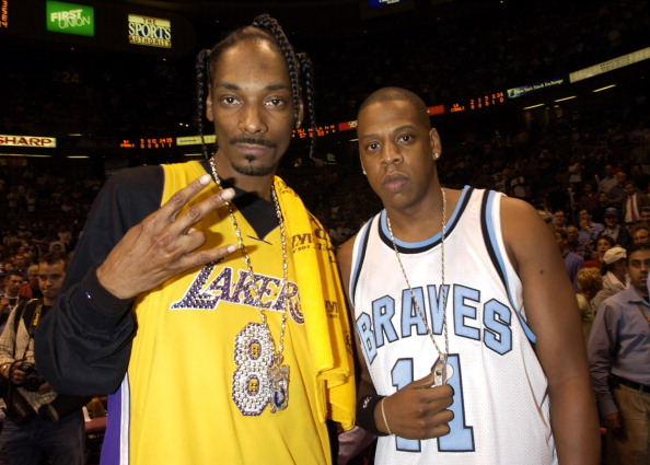 Celebrities at Game 4 of the NBA Finals with the Los Angeles Lakers and the New Jersey Nets