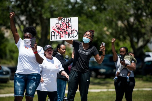 Brunswick, Georgia Community Demonstrates For Justice Surrounding Shooting Death Of Jogger Ahmaud Arbery