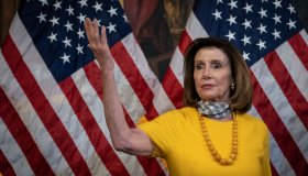Speaker Pelosi Holds Ceremonial Swearing-In For Republican Representatives
