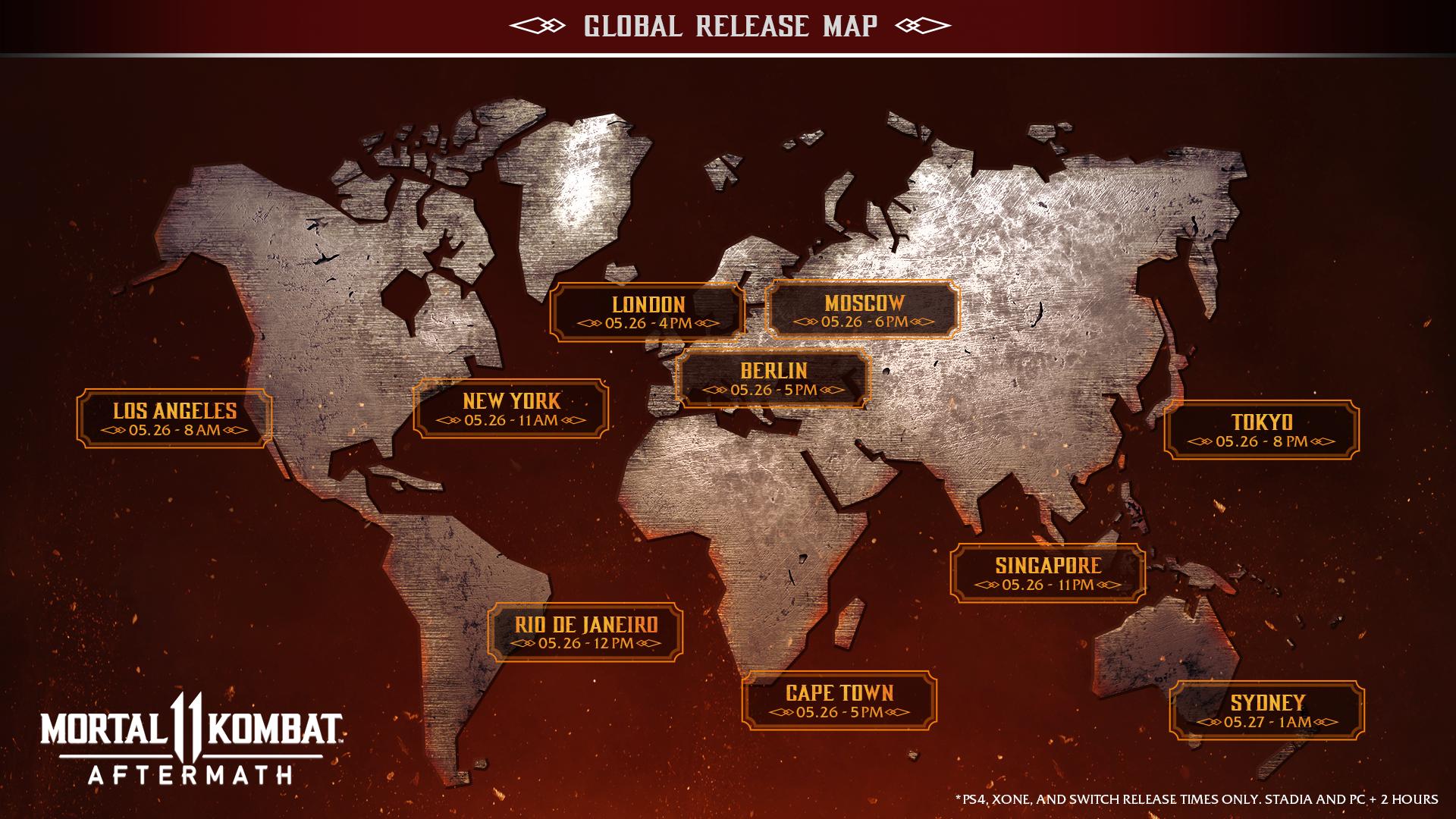 Mortal Kombat 11: Aftermath Launch Details