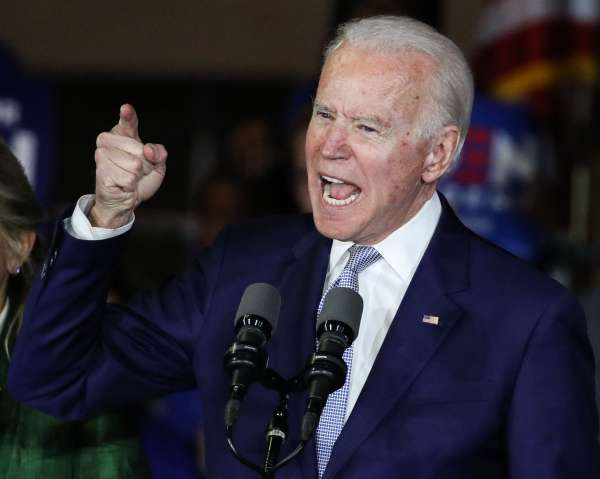 Former Vice President Joe Biden, 2020 Democratic presidential candidate, speaks during the Jill and...
