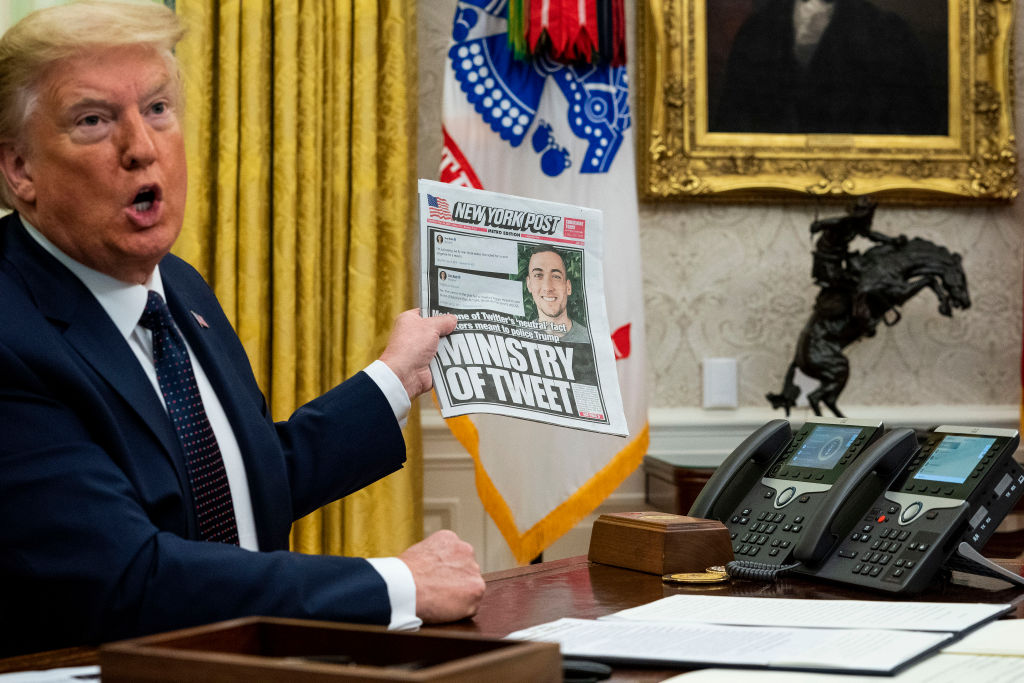 Donald Trump Signs  Executive Order In Response To Twitter Fact-Check