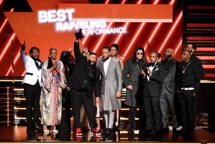 DJ Khaled, Lauren London & Nipsey Family Grammys