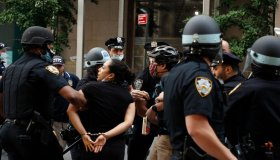 Protesters Rally In New York City Against The Police Killing Of A Minneapolis Minnesota Man George Floyd