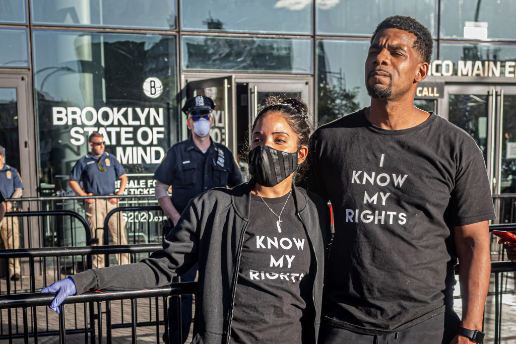 Protests broke out across New York City as thousands of...