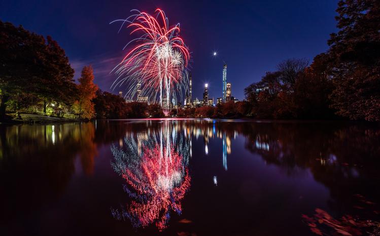 Central Park Fireworks - New York