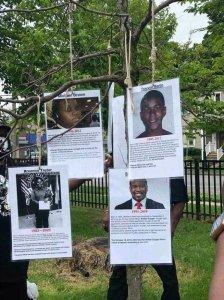 black gun victims hanging noose milwaukee