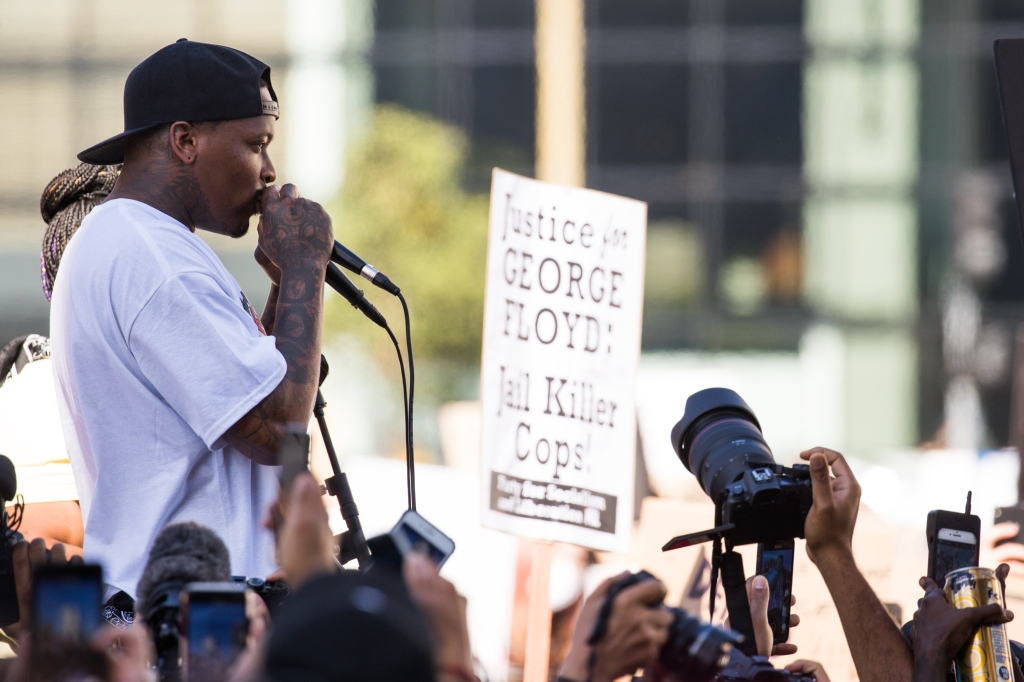 YG During BLM Protest in LA