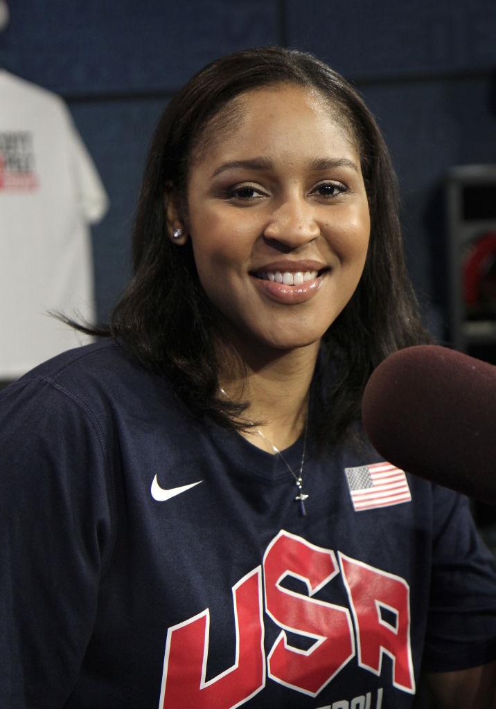 Maya Moore Visiting ESPN