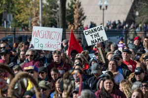 Minneapolis, Minnesota, Rally against racism, Native Americans and their supporters listen to the speakers