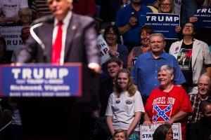 Donald Trump on campaign trail.