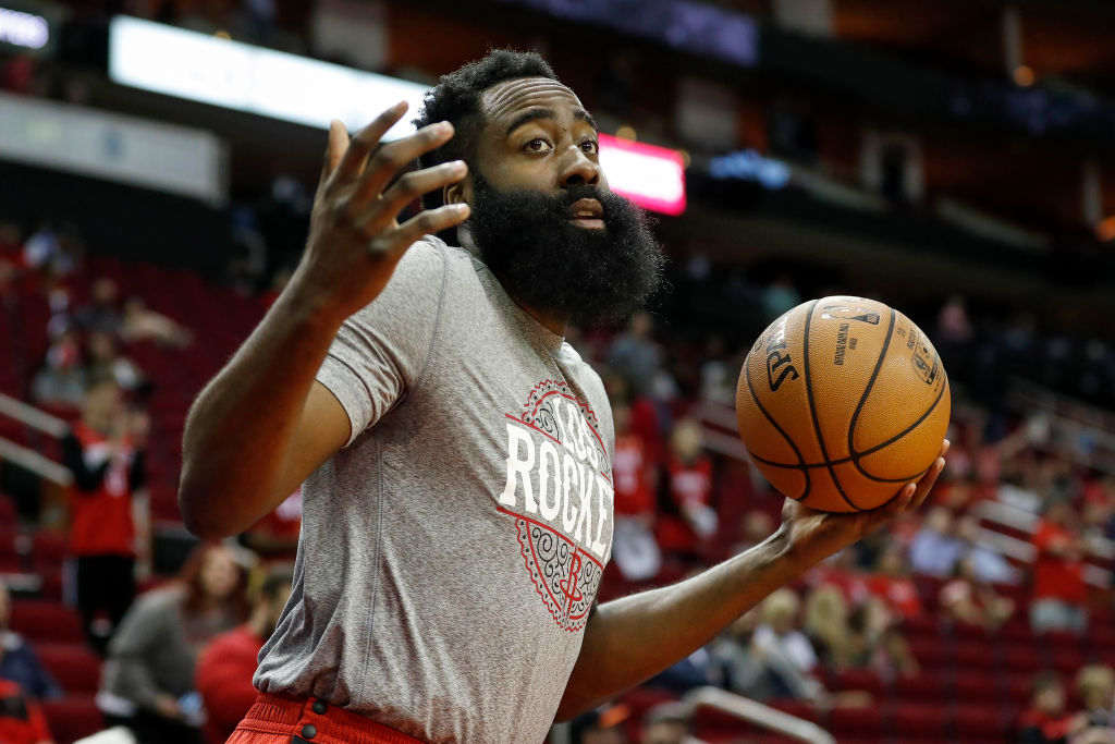 """James Harden Is Getting Side-Eyed For Wearing """"Thin Blue Line"""" Face Mask"""