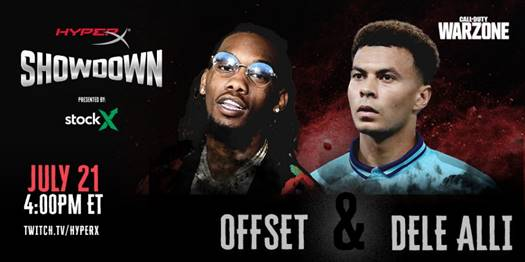 Mighty Duo Offset and Dele Alli Meet in Virtual HyperX Showdown