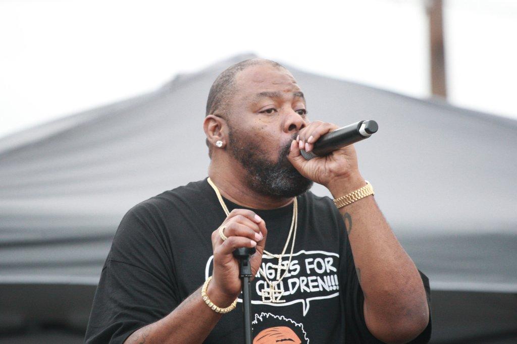 Rapper Biz Markie performing live at the Soul School Fest
