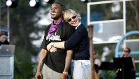 The Ellen DeGeneres Show Films the Second Annual Ellen in the Park with Kanye West