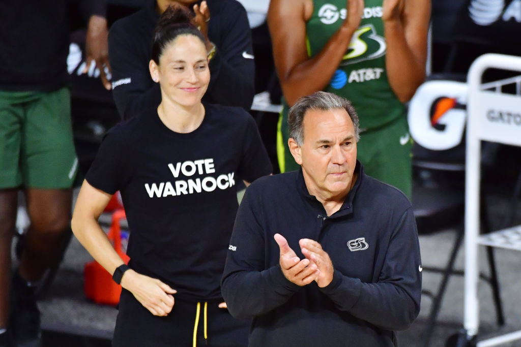 "WNBA Players Troll Kelly Loeffler By Wearing ""Vote Warnock"" T-Shirts"