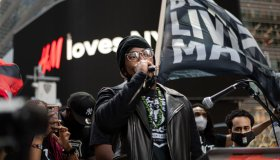 Nick Cannon joined thousands in New York's Times Square for...