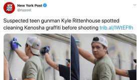 Kyle Rittenhouse NY Post tweet photo