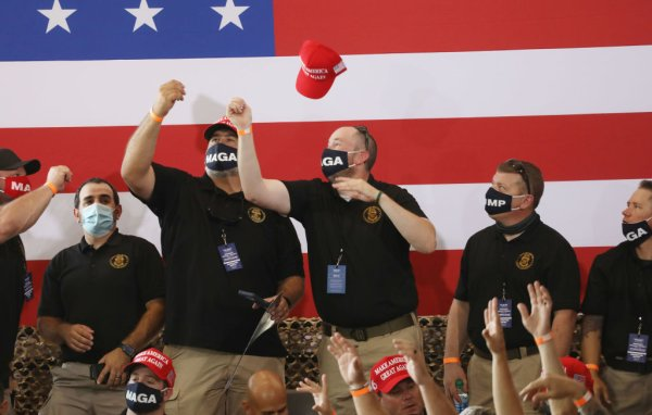 Donald Trump Holds Campaign Event In Yuma, Arizona